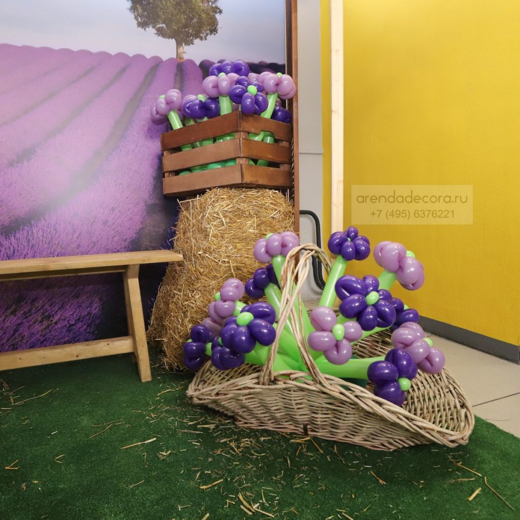 плетеная корзина для декора