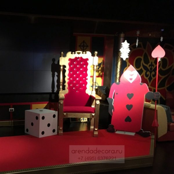 декорация трон царский