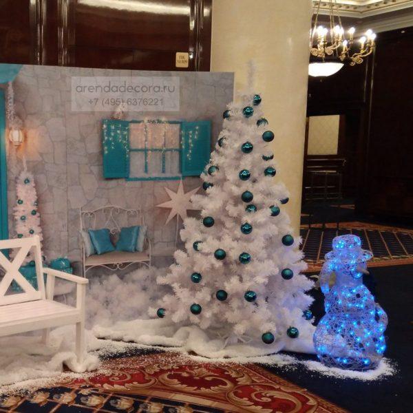 декорация снеговик малый