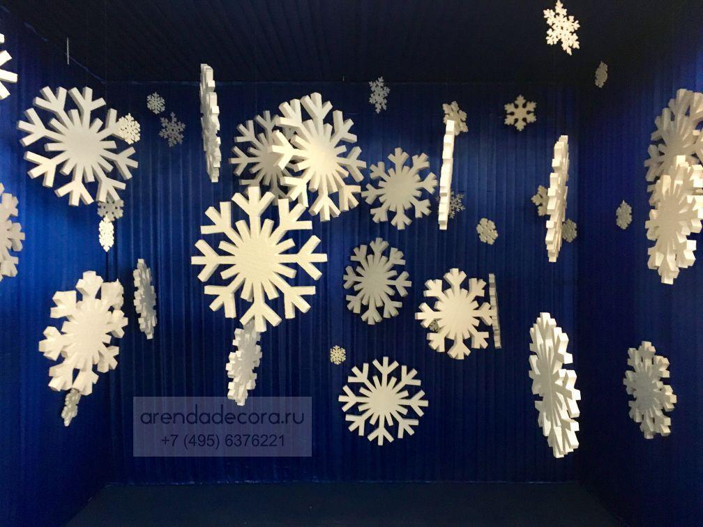 пенопластовые снежинки