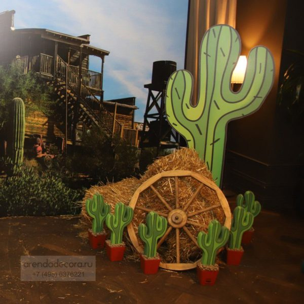 аренда декорации кактус