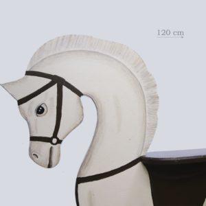 лошадка качалка белая