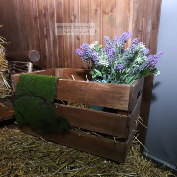 ящик деревянный коричневый