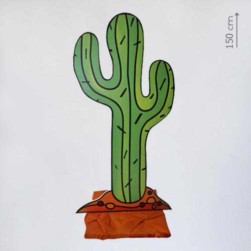 бутафорский кактус плоский
