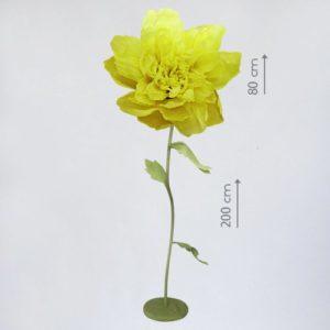 Гигантский бумажный цветок на ножке в аренду