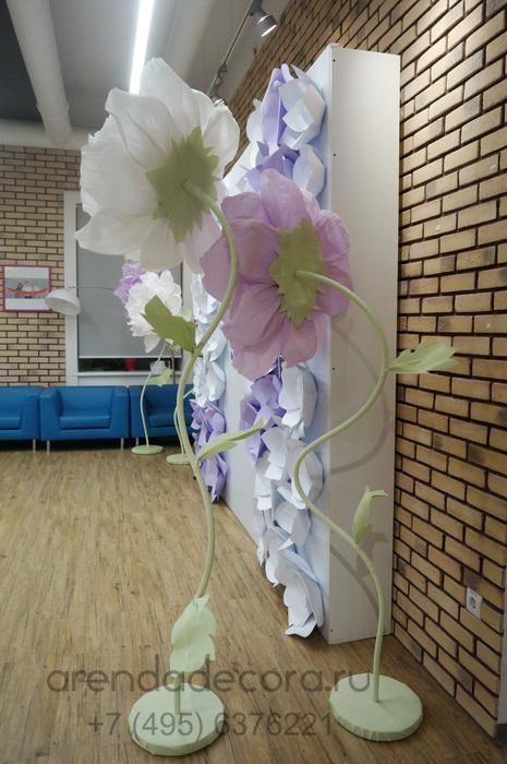 Большой цветок из бумаги в аренду