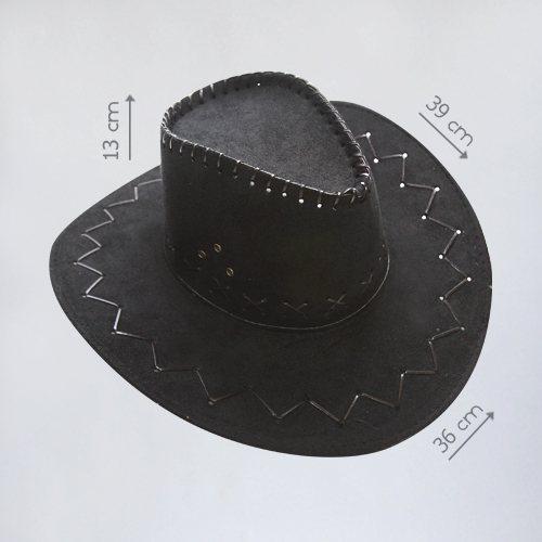 Ковбойская шляпа черного цвета в аренду