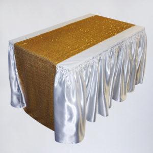 раннер тканевый золотой в аренду