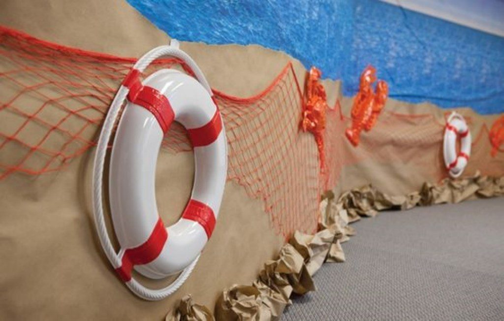 Оформление морской вечеринки