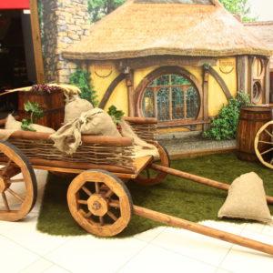 аренда большой деревянной телеги