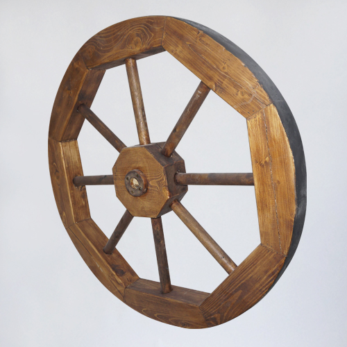 Колесо декоративное деревянное