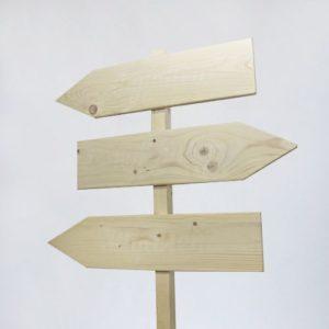 Аренда деревянного указателя
