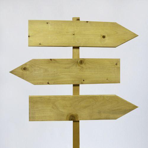 Аренда деревянного трех-секционного указателя