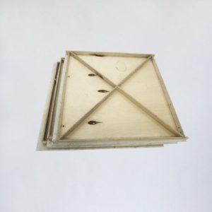 Деревянный куб белый