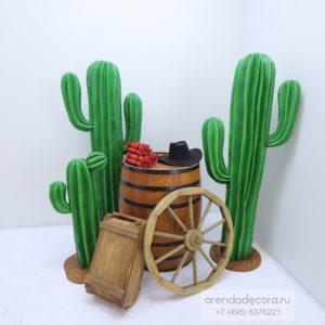 декорация пенопластовый кактус