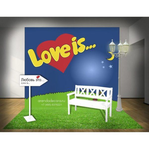 """Фотозона в стиле """"Love is"""""""