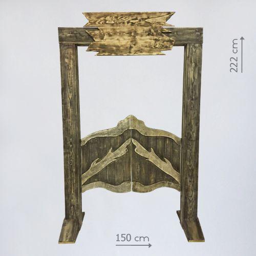 "Деревянная арка ""Вход в ковбойский салун"""