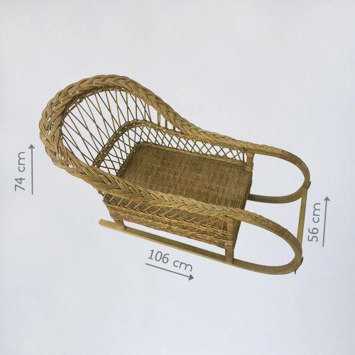 плетеные декоративные санки