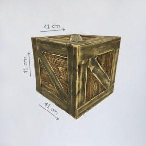 Бутафорский деревянный ящик