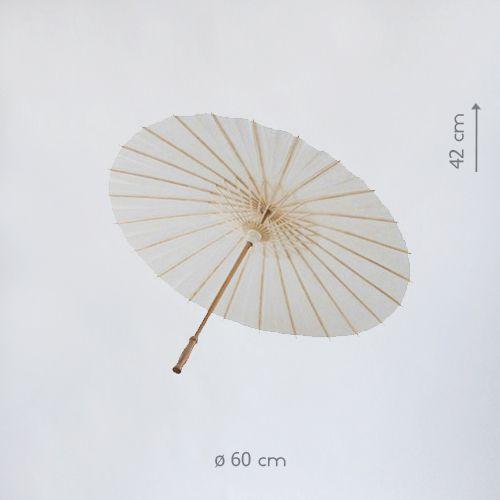 Бумажный зонтик белый китайский