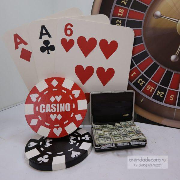 декорация фишка казино