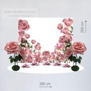 свадебная фотозона цветы