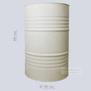 Металлическая бочка белая