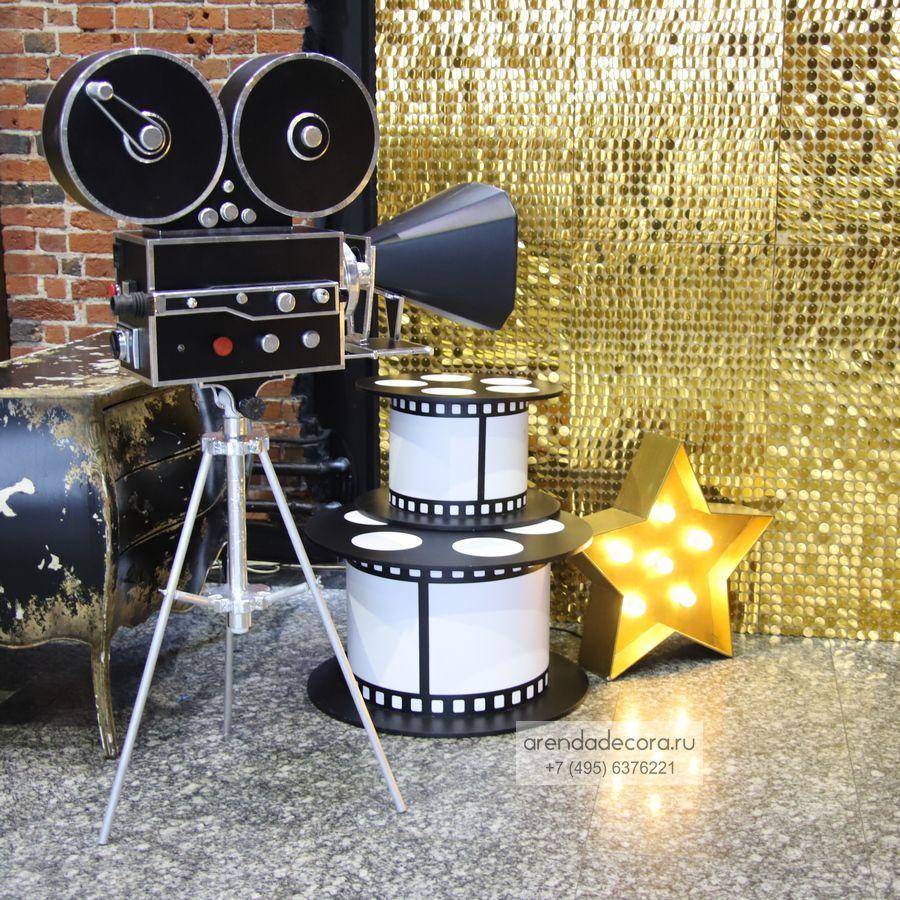 аренда фотозоны в стиле кино