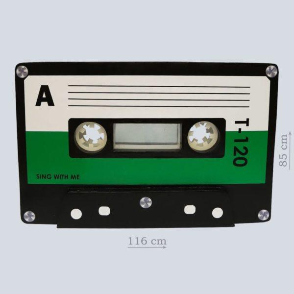 "декорация ""Аудиокассета зеленая"""