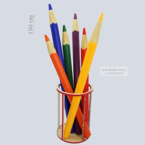 декорация большие карандаши