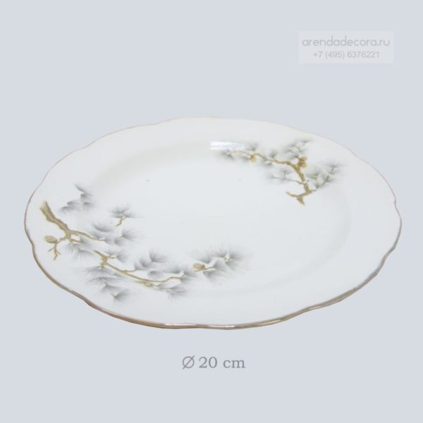 тарелка белая СССР