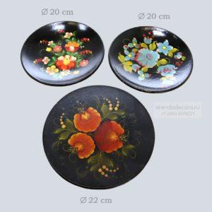Набор тарелок в русском стиле