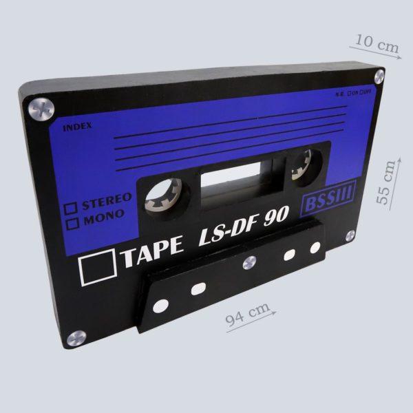 Аудиокассета пенопластовая Синяя