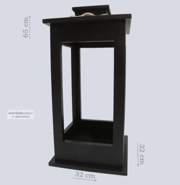 декоративный деревянный фонарь