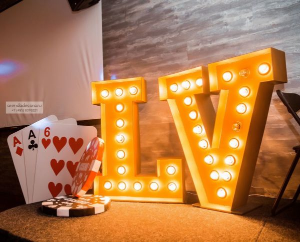 свадьба в стиле казино
